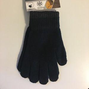 Unisex Black Tech Gloves, Large